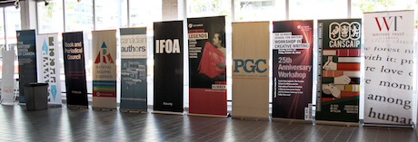 CWS_The organizers banners at CWS_c Katrina Afonso